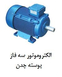 Three-phase electromotor of cast iron shell