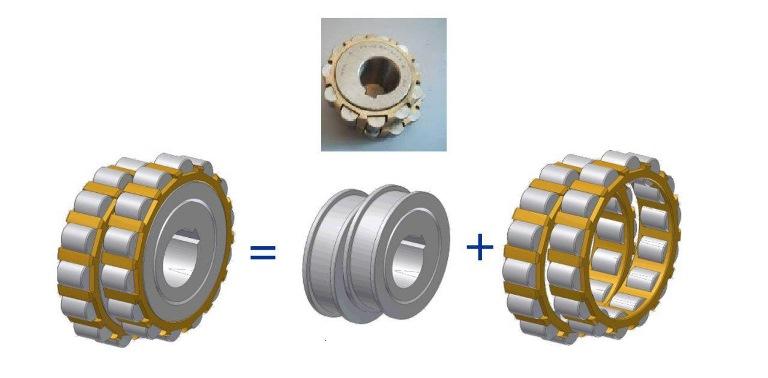 Bearings in cyclo gearbox