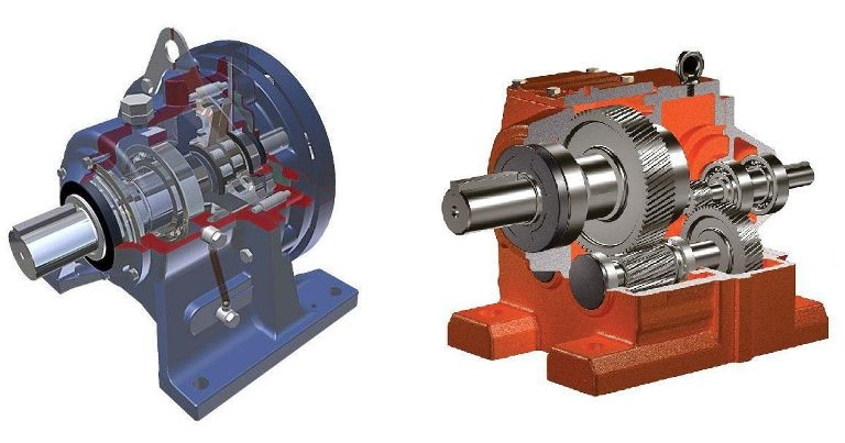 Comparison of helical and cyclo gearboxes